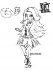monster high coloring pages jinafire long gloom | Malebog. Tegninger til farvelægning Jinafire Long