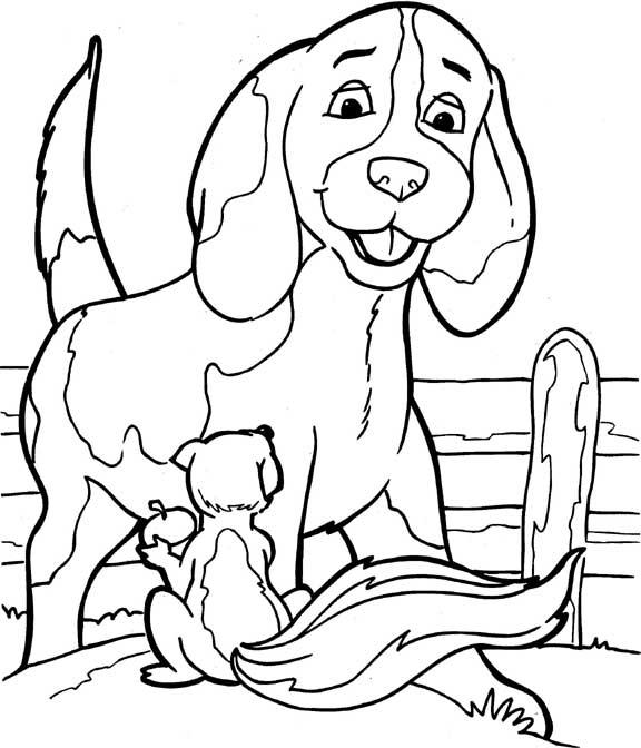 Malebog Tegninger Til Farvel 230 Gning Hund