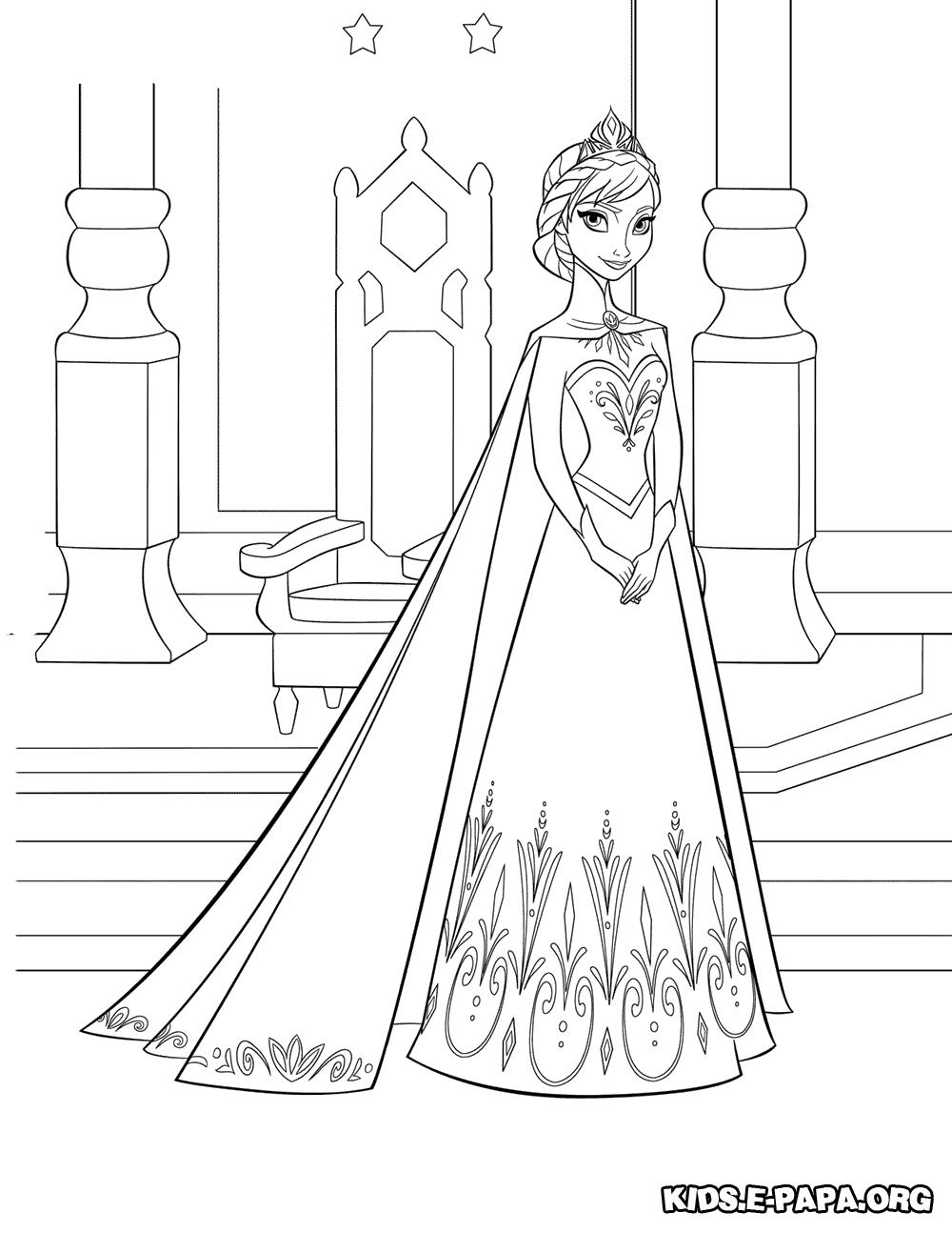 Malebog Tegninger Til Farvel 230 Gning Elsa