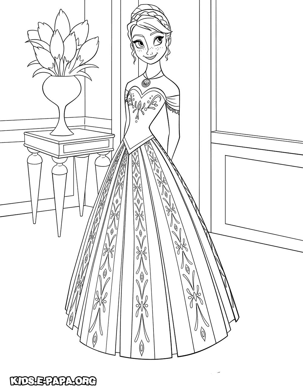 Ausmalbilder Eiskönigin Anna Und Elsa : Disney Frozen Anna Silhouette