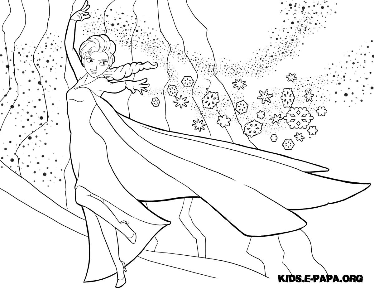 Malebog. Tegninger til farvelægning Elsa